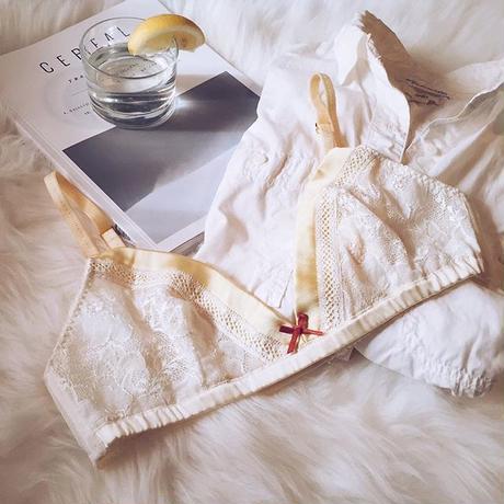 Lily Silk Yellow Bralette