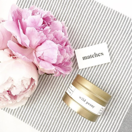 Wild Peony Gold Travel Candle