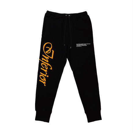 """INFERIOR"" SWEAT PANTS (BLK)"