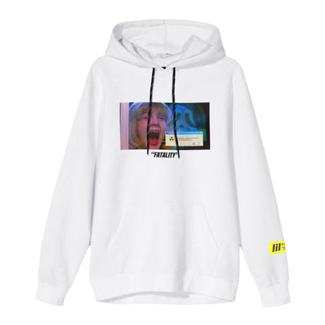 """FATALITY""  HOODIE (WHT)"