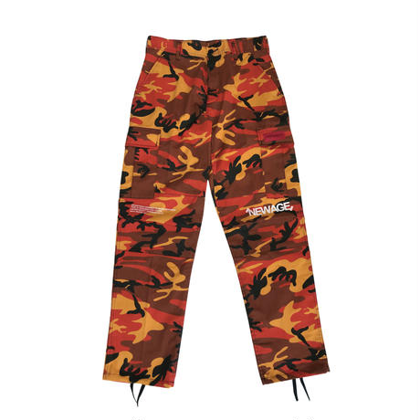 """TRANSFORM"" BACK-ZIP CARGO PANTS (ORG-CAMO)"