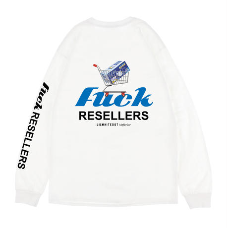 """FUCK-MASK-RESELLER"" LS TEE (WHT)"