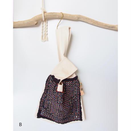 【DiDi by Lily】Katch tribe canvas knot bag (L)