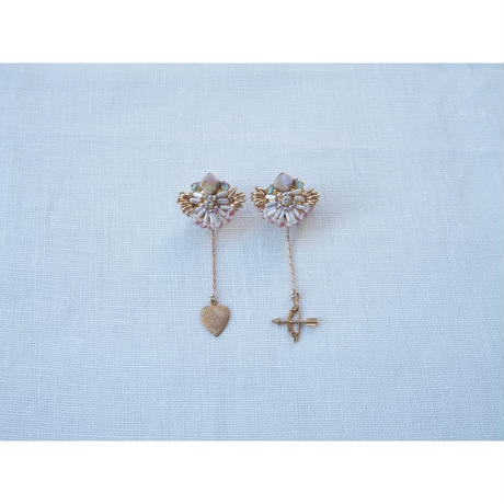 """2way  charm  swing  earring"""