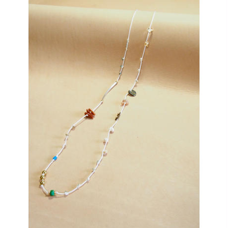 thin  silk necklace  & choker - beads collage-