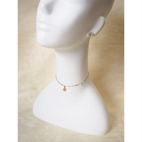 thin silk necklace & choker -turtle-