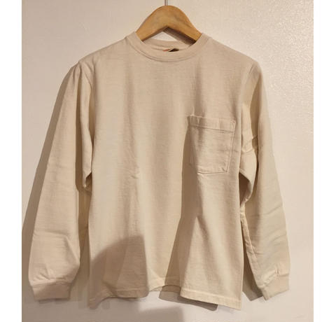 【Goodwear】 crew neck Pocket long sleeves