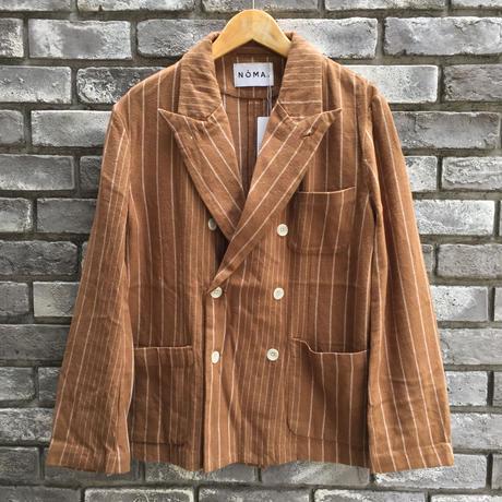 【NOMA t.d.】 Pin Stripe Jacket Walnut ノーマ ピンストライプ ジャケット セットアップ