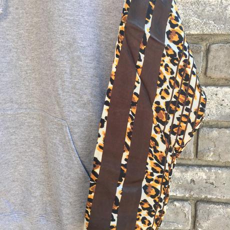 【NOMA t.d.】 Stripe Sleeve Parka Leopard