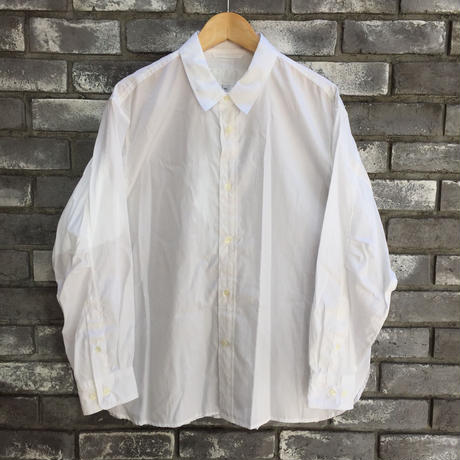 【Breechez】 Broad Regular Collar Over Shirt White ブロード オーバーシャツ