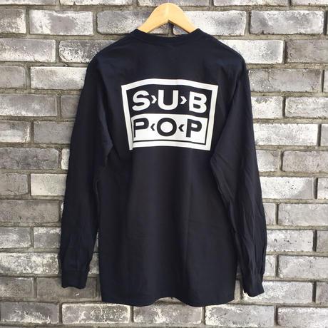 "【SUB POP】 ""SINGLES CLUB"" L/S Print Tee サブポップ シングルクラブ Tシャツ"