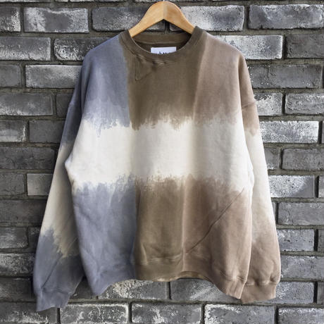 【NOMA t.d.】 Twist 3dye Sweat-Nature Gray / Beige / Ortmeal ノーマ ツイスト スリーダイ スウェット