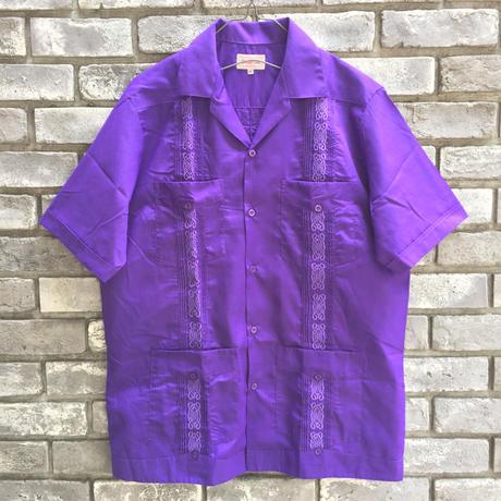 【MY CUBAN STORE】 Guayabera Short Sleeve Shirt マイ キューバン ストア  キューバシャツ