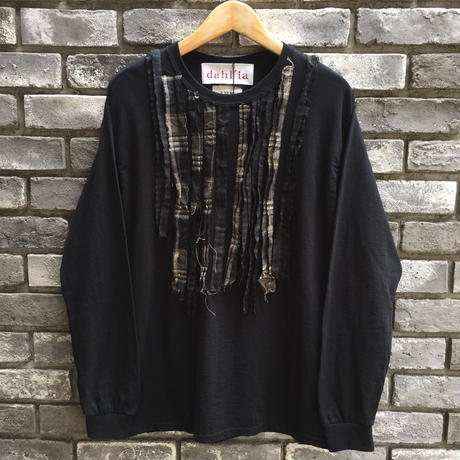 【dahl'ia × LILY】 Check Frill Long Sleeve Tee Black 別注 ダリア ロンT