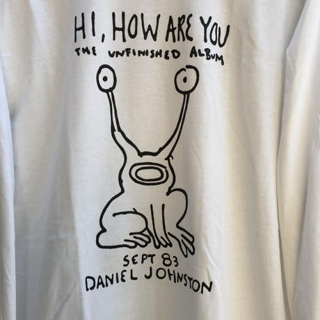 "【DANIEL JOHNSTON】""HI,HOW ARE YOU"" LS TEE ダニエルジョンストン"