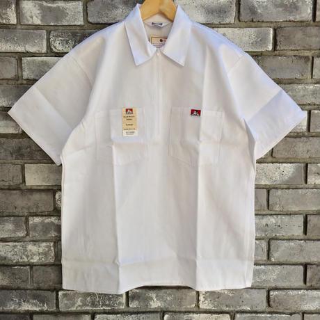 【BEN DAVIS】Half Zip Shirts  White ベンデイビス ハーフジップ シャツ