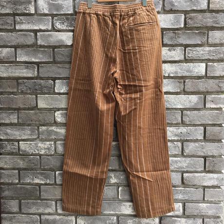 【NOMA t.d.】 Pin Stripe Trousers Walnut ノーマ ピンストライプ トラウザーズ