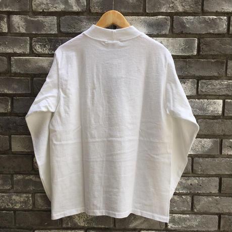 【Goodwear】 L/S Mock Neck Pocket Tee White グッドウエア ロンT