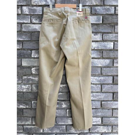 【LILYyoyogiuehara】 Re-make Slit Flare Trousers Khaki リメイク スリット フレア トラウザーズ
