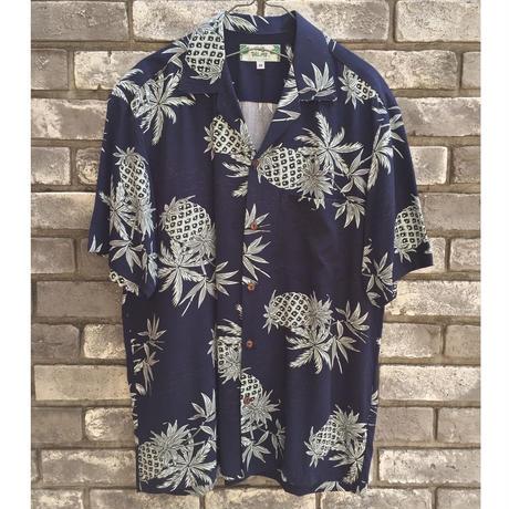 【TWO PALMS】 Hawaiian Shirt Pineapple Map トゥーパームス ハワイアンシャツ
