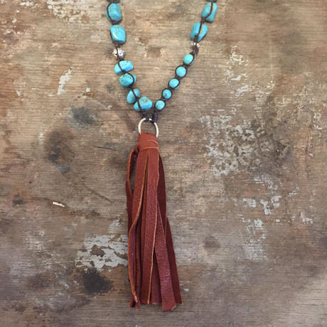 【MOON DANCER LEATHER For LILY】 Wax cotton Tassel Necklace ワックスコットン タッセル ネックレス