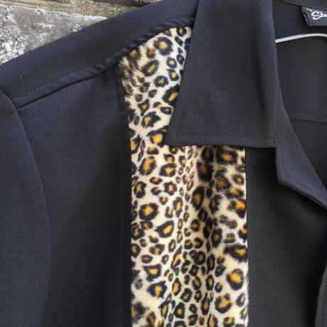 【STEADY CLOTHING】 Bowling Shirt Leopard  ステディ クロージング ボーリングシャツ レオパード