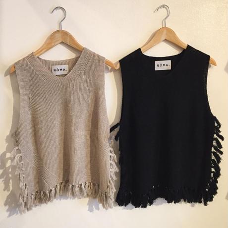 【NOMA t.d.】Fringe Knit Vest