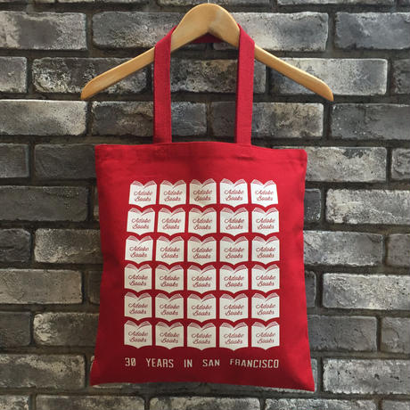 【Adobe Books】30years Tote Red