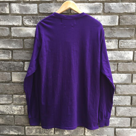 【dahl'ia × LILY】 Check Frill Long Sleeve Tee Purple 別注 ダリア ロンT