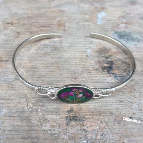 【GUSTAVO】 Flower Oval Narrow Bracelet