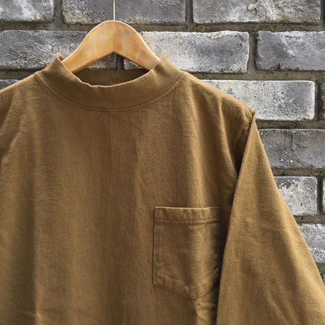 【Goodwear】 L/S Mock Neck Pocket Tee Coyote グッドウエア ロンT