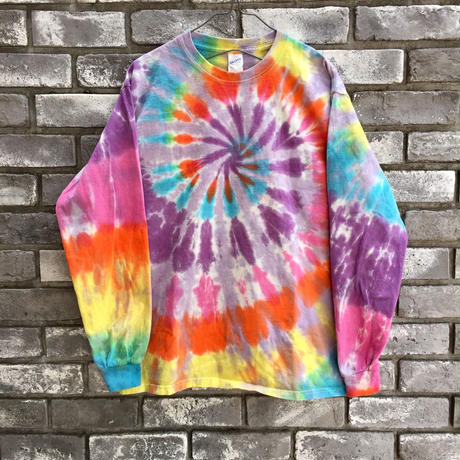 【INSPIRING COLOR TIEDYE × LILY】 Tie-Dye Long Sleeve Grey Mサイズ タイダイ ロンT