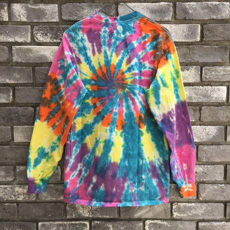 【INSPIRING COLOR TIEDYE × LILY】 Tie-Dye Long Sleeve Blue Mサイズ タイダイ ロンT
