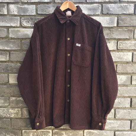 【Caltop】 Corduroy LS Shirt solid Brown カルトップ コーデュロイ シャツ