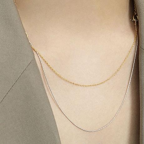 【silver925】4way chain necklace