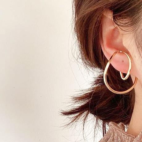 metal round ear cuff(両耳用)
