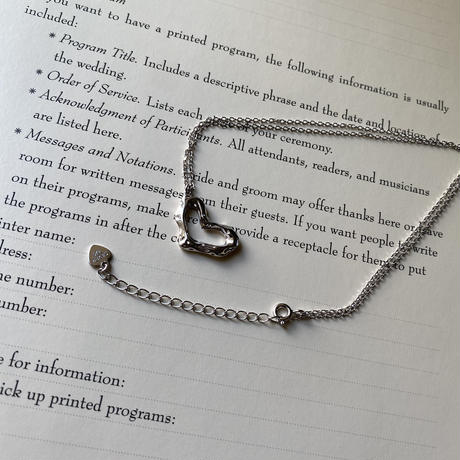 【silver925 】heart necklace
