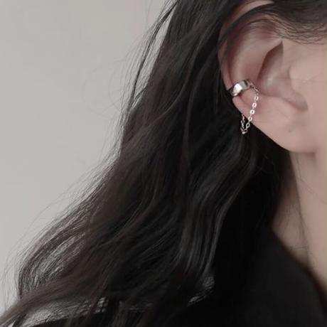 【silver925 】plate chain ear cuff