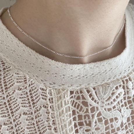 【silver925】figaro chain necklace
