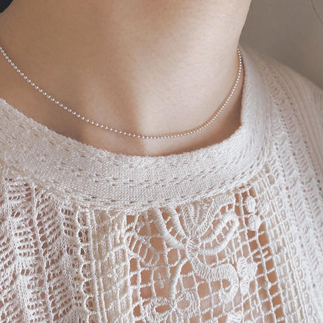 【silver925】bead chain necklace