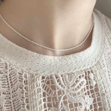 【silver925】rope chain necklace