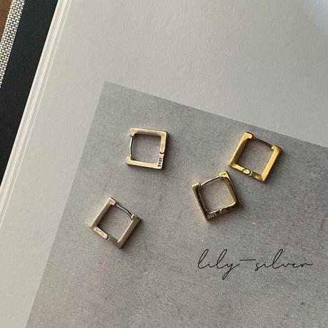 【silver925】square pierce