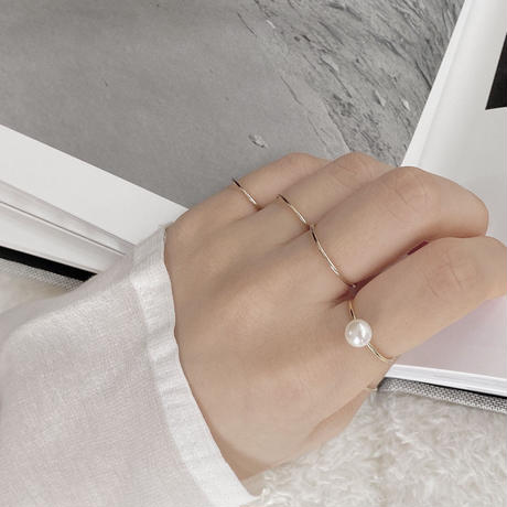 14k gold filled thin ring
