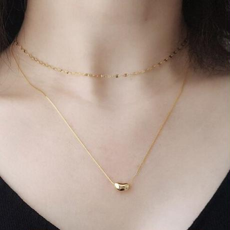 【silver925】éclair chain choker necklace