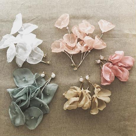 chiffon flower pierce