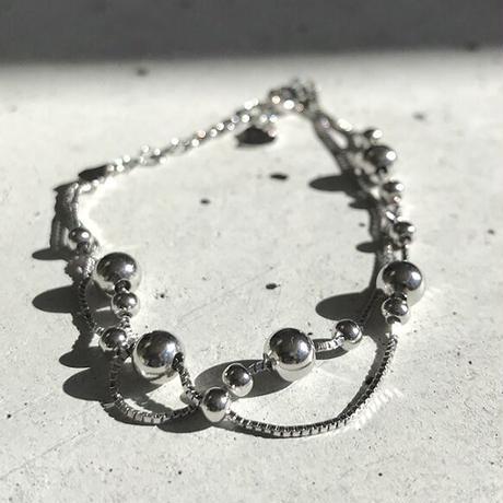 【silver925】random ball chain bracelet