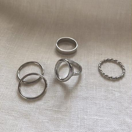 metal simple ring set