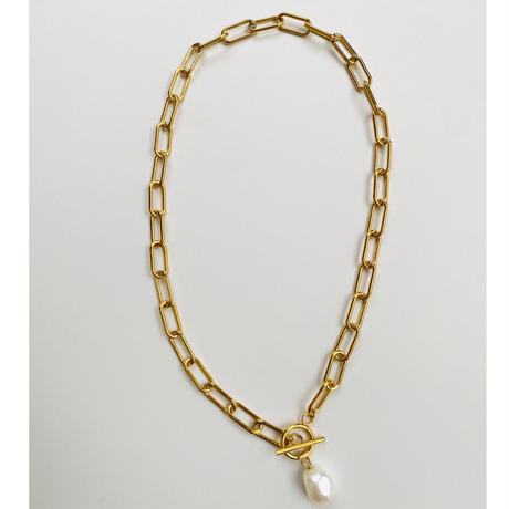 SUS316L mantel chain pearl necklace