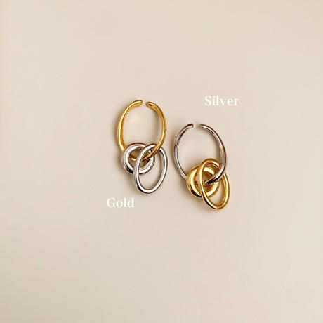 4type ring ear cuff