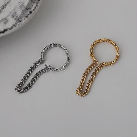 【silver925 】2line chain ear cuff